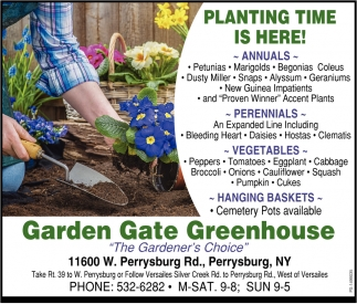 Planting Time Is Here!