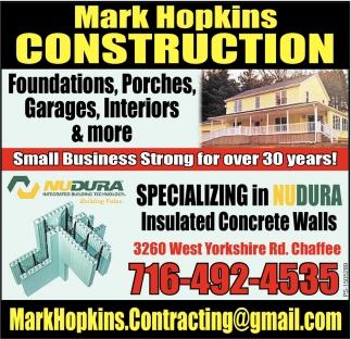 Foundations, Porches, Garage Interiors & More