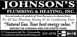For All Your Plumbing Heating