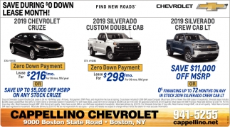 Save During $0 Down Lease Month!