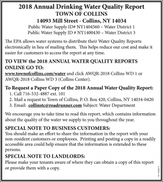 Annual Drinking Quality Water Report