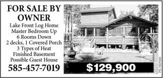 Lake Front Log Home
