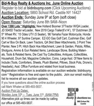 June Online Auction