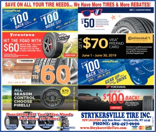 Save On All Your Tire Needs