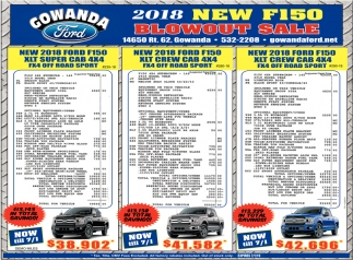 New F150 Blowout Sale