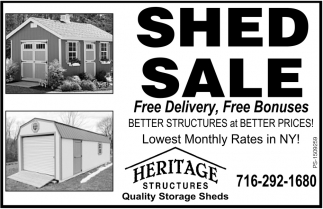 Shed Sale