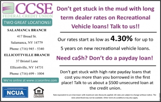 Great Rates On Auto Loans!