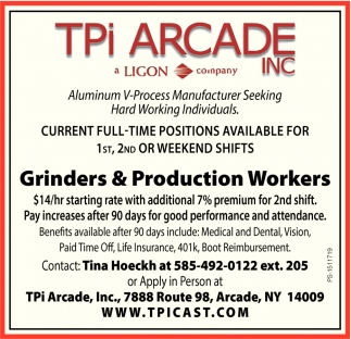 Grinders & Production Workers