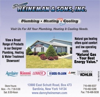 Visit Us For All Your Plumbing, Heating & Cooling Needs