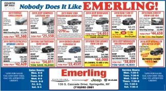 Nobody Does It Like Emerling!