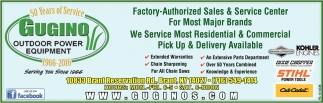 Factory Authorized Sales & Service Center