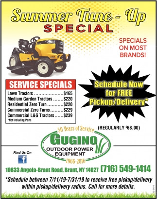 Summer Tune-Up Special