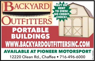 Portable Buildings , Backyard Outfitters, Chaffee, NY