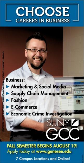 Choose Careers In Business