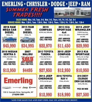 Summer Fresh Trades!!!