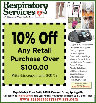 10% Off Any Retail Purchase Over $100.00