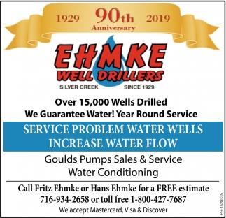 Service Problem Water Wells