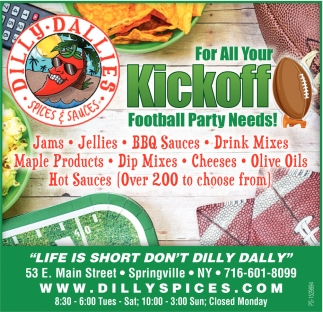 For All Your Kickoff Football Party Needs!