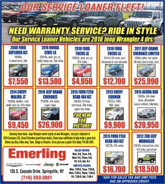 Our Service Loaner Fleet!