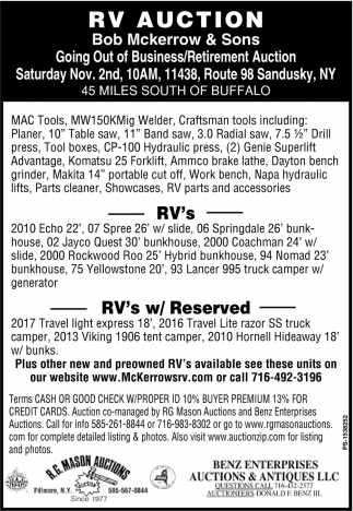 RV Auction
