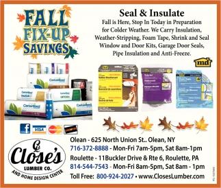 Fall Fix-Up Savings