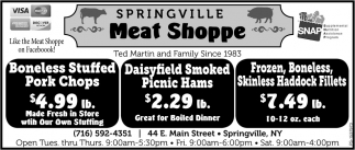 Boneless Stuffed Pork Chops