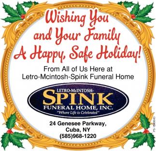 Happy, Safe Holiday