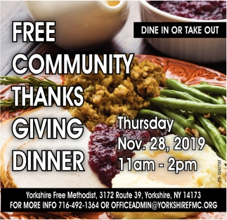 Free Community Thanks Giving Dinner