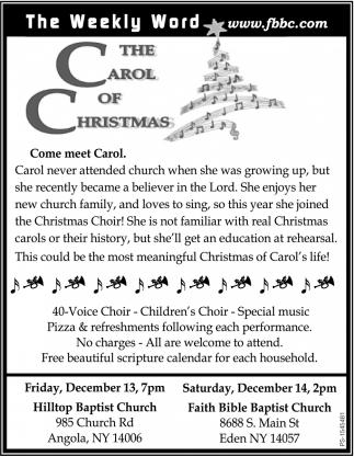 The Carol Of Christmas