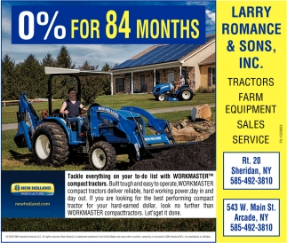 0% Financing For 84 Month
