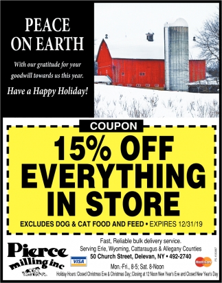 15% Off Everything In Our Store