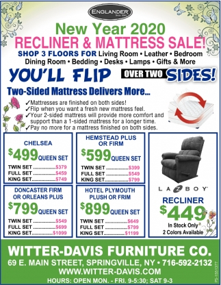 Recliner & Mattress Sale!