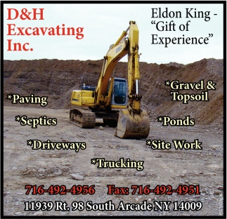 Gravel & Topsoil, D&H Excavating Inc., Arcade, NY