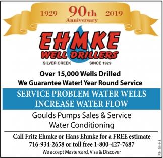 We Guarantee Water!