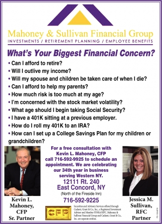 What's Your Biggest Financial Concern?