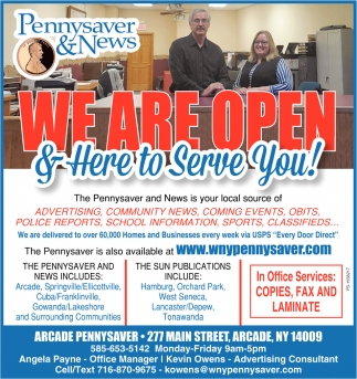 We Are Open & Here To Serve You!
