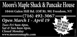 Open March 1 - April 19