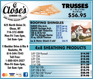 Roofing Shingles Close S Lumber Olean Ny