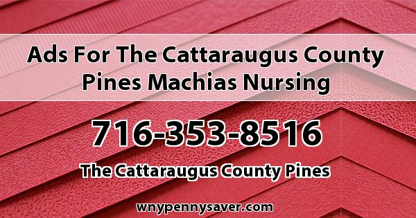 Ads for The Cattaraugus County Pines Machias Nursing